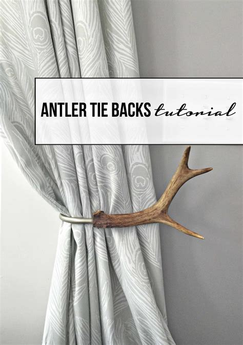 sew curtain tie backs tutorial how to make antler curtain tie backs lindsey