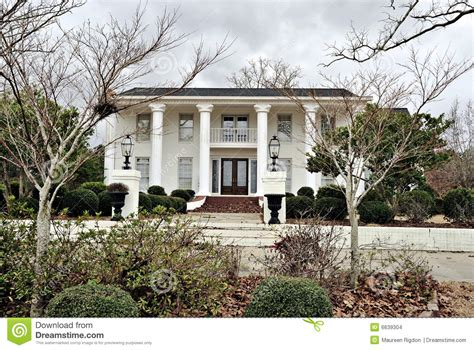 southern architects antebellum mansion southern architecture stock photo