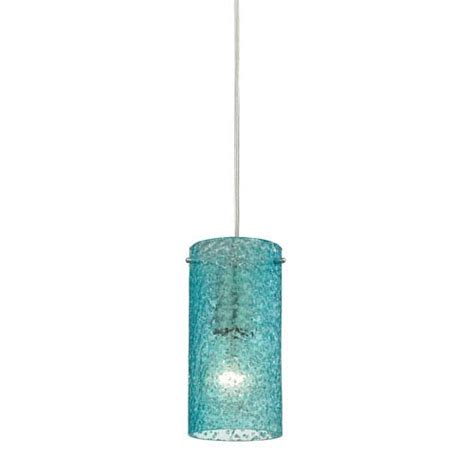 Aqua Glass Pendant Light Aqua Glass Mini Pendant Bellacor