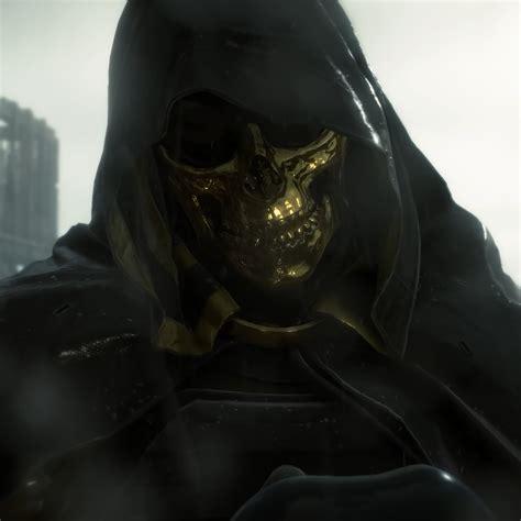death stranding higgs gold skull mask   wallpaper