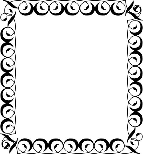 Decorative border clip art free vector in open office drawing svg svg vector illustration