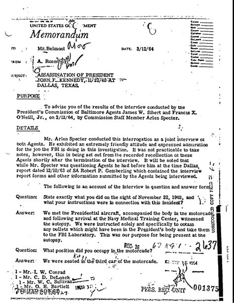 History Matters Archive - MD 153 - FBI Internal Memorandum