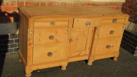 antique victorian pine sideboard  hm la