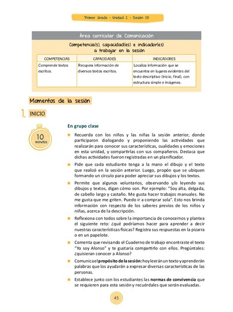de aprendizaje 03 unidad didctica 01 rea comunicacin segundo grado de unidad didctica 2015 del rea de comunicacin jec sesi 243 n