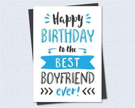 Printable Birthday Cards For A Boyfriend | printable birthday card happy birthday to the best