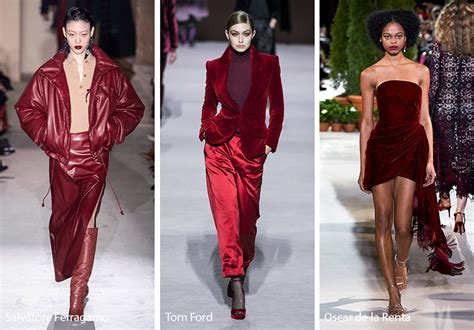fall winter   color trends fall  runway colors