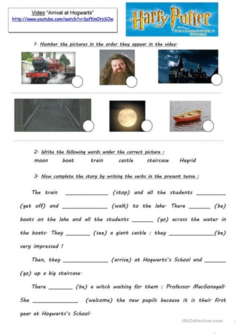 5 W S Worksheet by Harry Potter Project Extracts Ws 5 Worksheet