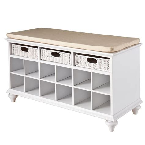 storage hallway bench shoe storage bench rattan drawers entryway corridor
