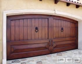 Garage Wood Doors Mediterranean Revival 02 Custom Handcrafted Garage Door In Solid Mahogany Wood Mediterranean