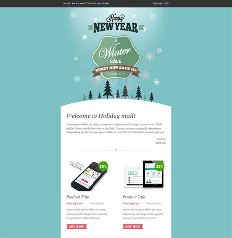 free email card templates winter sale email template web ui