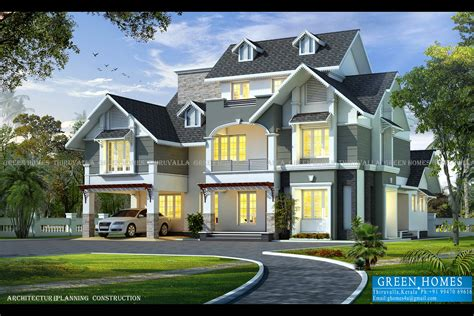kerala home design thiruvalla green homes awesome european style house in 3650 sq feet