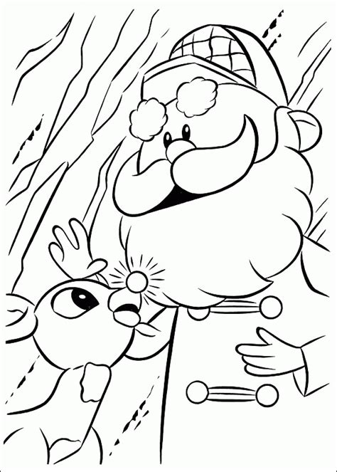 coloring page rudolph reindeer rudolph the red nosed reindeer coloring pages