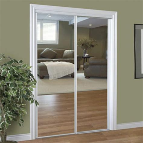 slimfold closet doors slimfold 72 quot x 96 quot steel framed sliding mirror door at menards bedroom ideas