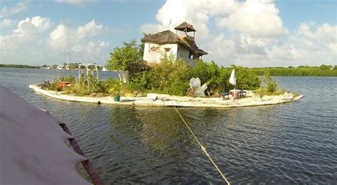 used boats van island an island made from plastic bottles by richart sowa youtube