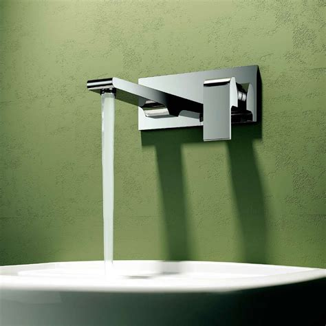 wall mounted faucet bathroom cbi oceanus 2 hole wall mounted bathroom faucet in chrome