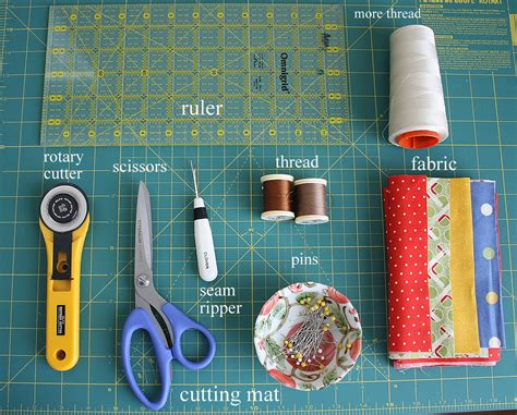 Patchwork Tools And Equipment - basic quilting supplies