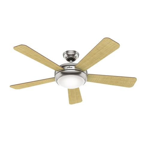 hunter ceiling fan downrod shop hunter 52 in brushed nickel indoor downrod or close