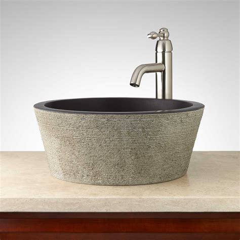 granite vessel sinks bathroom montserrat round lava stone vessel sink bathroom
