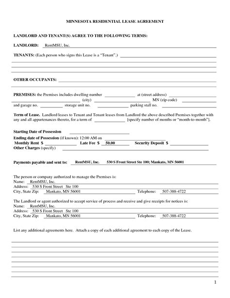 Landlord Tenant Agreement Template best photos of landlord agreement template free printable rental lease agreement form template