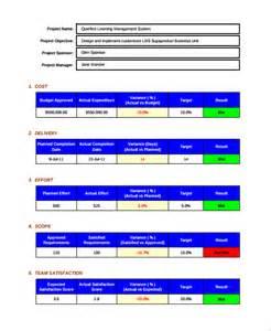 sample project scorecard template 7 free documents