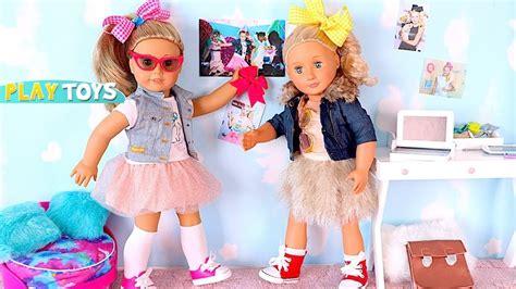 Jojo Make Up Set 8 In 1 american doll dress up w bow hairstyle like jojo