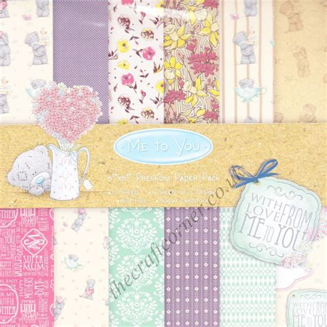 Designer Paper Crafts - me to you 6 x 6 designer paper pad by trimcraft