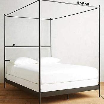 Black Metal Canopy Bed Callum 6 Drawer Storage Black Canopy Bed