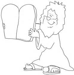 ten commandments coloring pages sunday school moses bible coloring pages