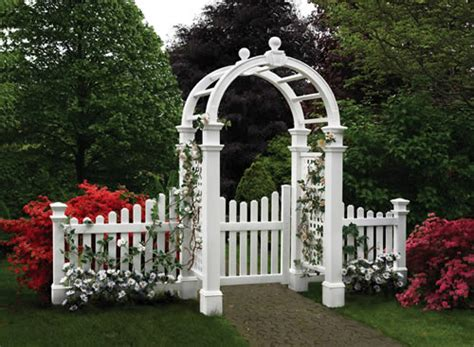 Garden Arbor With Gate White Fences And Gates On Picket Fences Gates And Fence