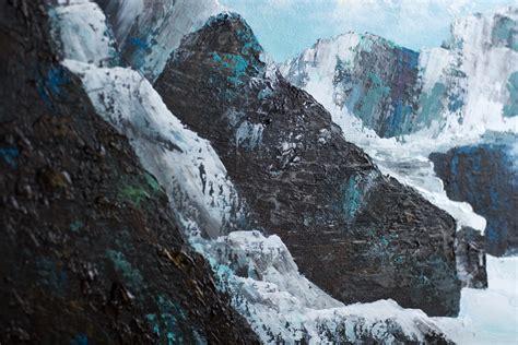 mountains  lake louise acrylic painting  calgary