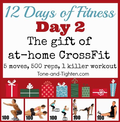 at home crossfit inspired workout tone and tighten