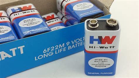 Baterai Aa Murah Baterai Max Watt Max Watt jual baterai 9v battery 9 volt baterai kotak merk hw hiwatt murah