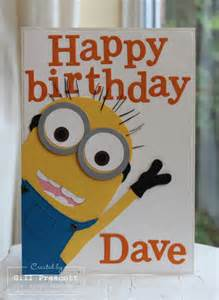 Minion Birthday Cards Despicable Me Minion Card Lily By Gilly