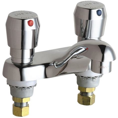 Chicago Faucet Handles by Chicago Faucets 4 In Centerset 2 Handle Low Arc Bathroom