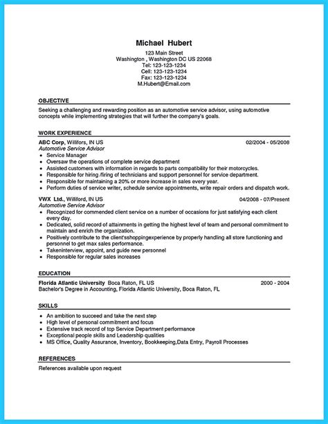 automotive resume objective arranging a solid automotive resume