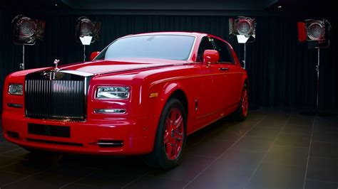 rolls royce gold and red gold infused rolls royce phantom built for the 13 hotel