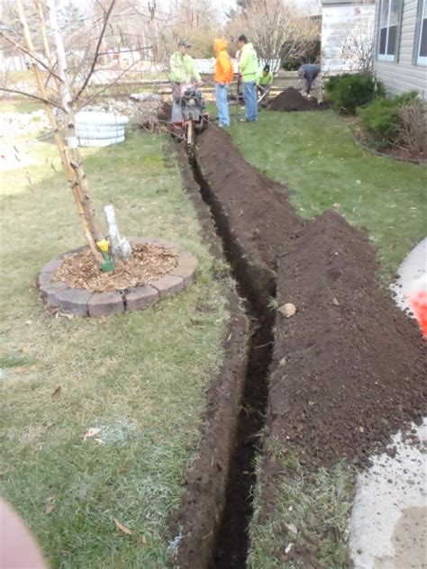 drainage in backyard landscaping a drainage ditch 187 backyard and yard design