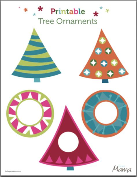 printable paper christmas decorations free printable ornaments todaysmama
