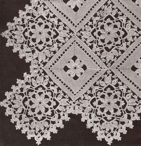 pattern and motif searches vintage crochet pattern to make block lace flower