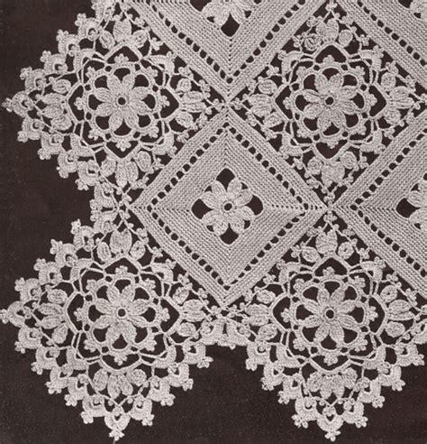 pattern motif crochet vintage crochet pattern to make block lace flower