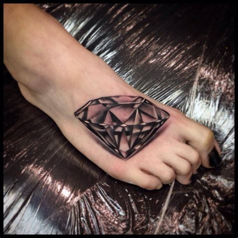tattoo diamond black and grey realistic diamond tattoo by victor of fueyo