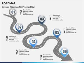 powerpoint map template roadmap powerpoint template sketchbubble