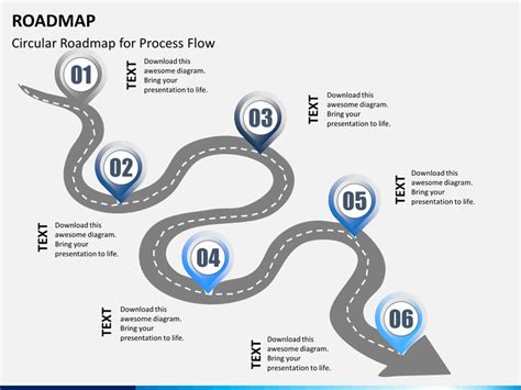 free powerpoint roadmap template roadmap powerpoint template sketchbubble