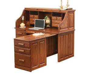 Small Roll Top Computer Desk 62 Quot Traditional Computer Roll Top Desk With Pull Out Return Ohio Hardwood Furniture