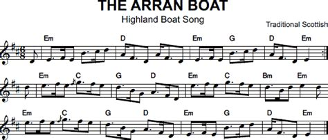 arran boat song sheet music tunes 2013 folkrag