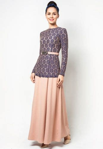pattern jubah lace embroidered lace 2 piece jubah by melinda looi zalora