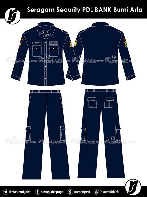 Seragam Pdl seragam security pdl bank bumi arta mitra pengadaan seragam no 1 di indonesia