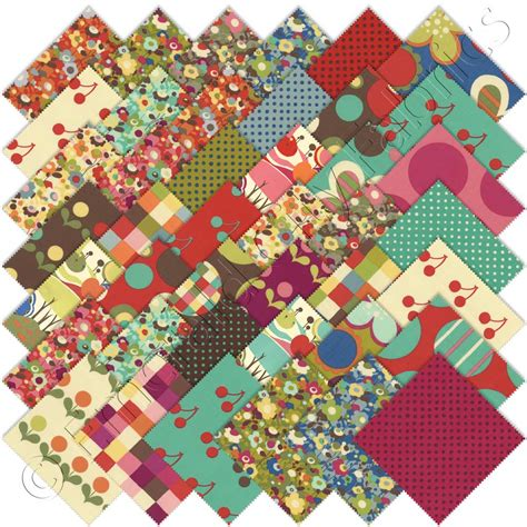 Quilting Fabric Charm Packs by Moda Avant Garden Charm Pack Fabric Squares Cotton