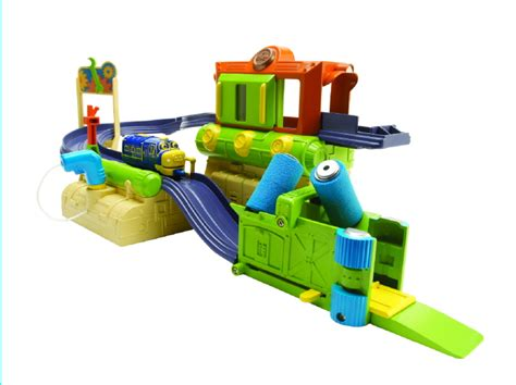 chuggington diecast fix go repair shed playset