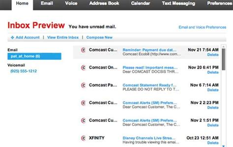 my comcast email inbox myideasbedroom